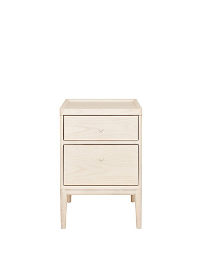 Image of Salina two drawer bedside cabinet